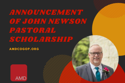 Announcement of John Newson Pastoral Scholarship